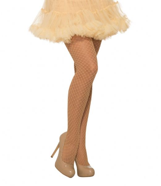 Ladies Fishnet Stocking Glitter Beige